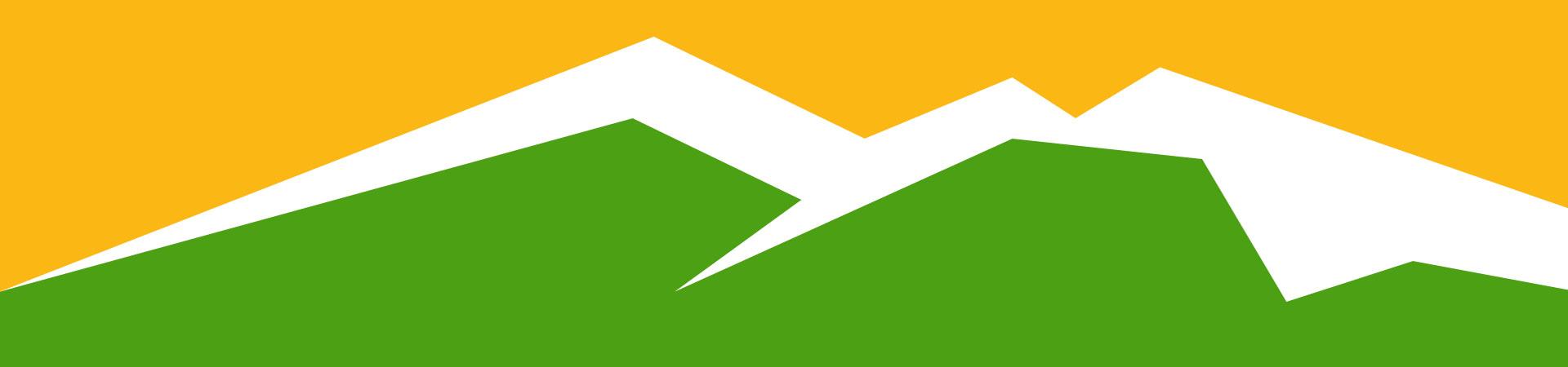 montagne jaune vert