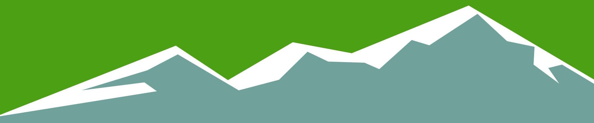 montagnes vert bleu